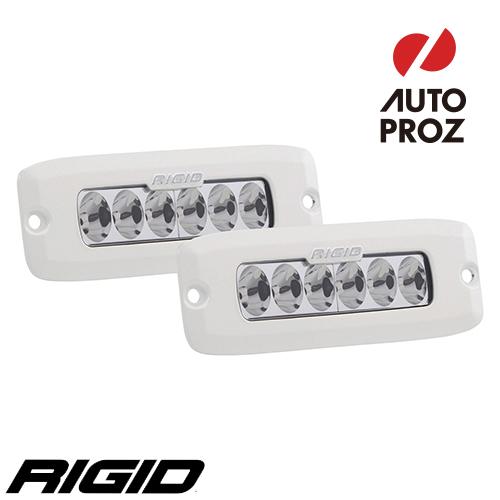 [Rigid Industries 正規品] SR-Q PRO LEDライト 2個セット LEDカラー:ホワイト 発光パターン:ドライビング フラッシュマウントタイプ