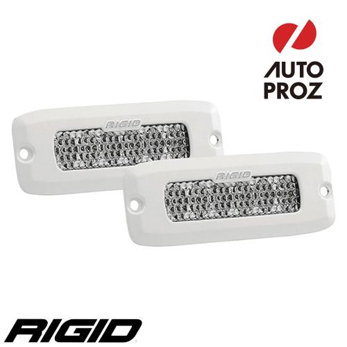 [Rigid Industries 正規品] SR-Q PRO LEDライト 2個セット LEDカラー:ホワイト 発光パターン:スペクター ディフューズ フラッシュマウントタイプ