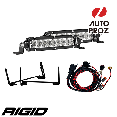 [Rigid Industries 正規品] フォード F-150 ステルス 2017年以降現行 SRシリーズ グリルキット (マウント&6インチLEDライト2個)