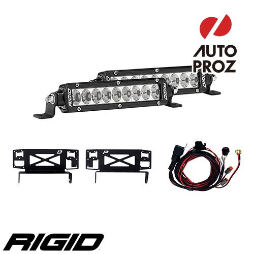 [Rigid Industries 正規品] フォード F-250 スーパーデューティー ステルス 2017年以降現行 SRシリーズ グリルキット (マウント&6インチLEDライト2個)