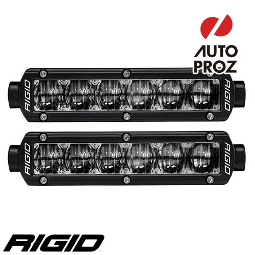 [Rigid Industries 正規品] SRシリーズ 6インチ SAEフォグライト 2個 ブラック