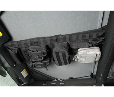 ジープ/ラングラー/JK/TJ/オフロード/USDM [Smittybilt 正規品] ジープ TJラングラー G.E.A.R. オーバーヘッドコンソール ブラック