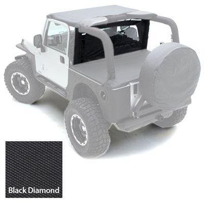 [スーパーセール10%OFF!] [Smittybilt 正規品] ジープ JKラングラー 2ドア 2007年式以降現行 ウィンドブレーカー ブラックダイアモンド