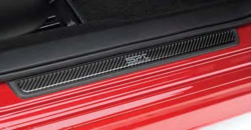【USスバル直輸入純正品】SUBARU WRX STI(インプレッサ WRX/STI) 2007-2014年(平成19年-26年式)SPT カーボンファイバードアシルプロテクター(スカッフプレート/キッキングプレート)※4枚セット