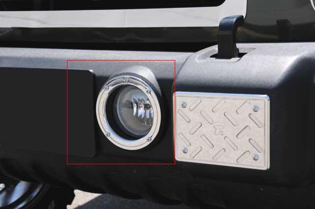 【US直輸入正規品】T-REX ティーレックスJEEP ジープJK Wrangler JKラングラー2ドア 2007年式以降 現行T1シリーズ フォグライトリング※2ピース