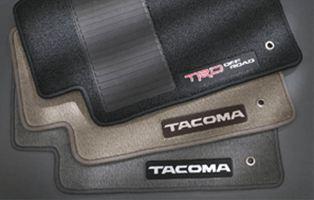 【USトヨタ 直輸入純正品】Tacoma タコマ2007-2011※アクセスキャブ用カーペットフロアマット - ライトチャコール(グレー)