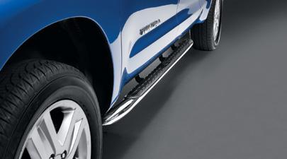 【USトヨタ 直輸入純正品】Tundra タンドラ2007年式以降 現行モデル用ダブルキャブ用 サイドステップステンレス製(黒)