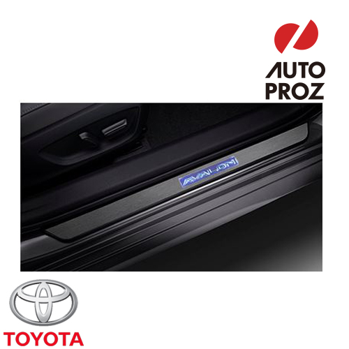 [US TOYOTA 純正品] トヨタ アバロン 2020年式以降現行 イルミネーション ドアシルプロテクター/スカッフプレート 点灯カラー:ホワイト