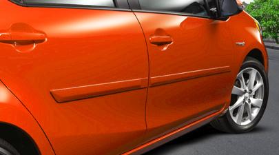 【USトヨタ 直輸入純正品】PriusC(プリウスC)AQUA(アクア)ボディサイドモールディング(サイドガーニッシュ/ドアモール)