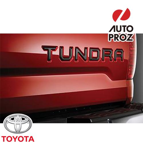 [TOYOTA 純正品] トヨタ タンドラ 2014年式以降現行 テールゲート インサートバッジ ブラック