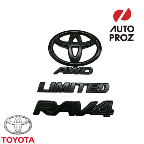 TOYOTA 純正品 トヨタ 新型RAV4 リミテッド AWD 2019年以降現行 ブラックアウト エンブレム オーバーレイ
