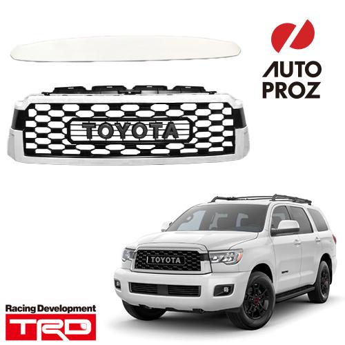 [TOYOTA 純正品] トヨタ セコイア 2008年以降現行 TRD Pro仕様 フロントグリル・モールディング セット ホワイト(0040)