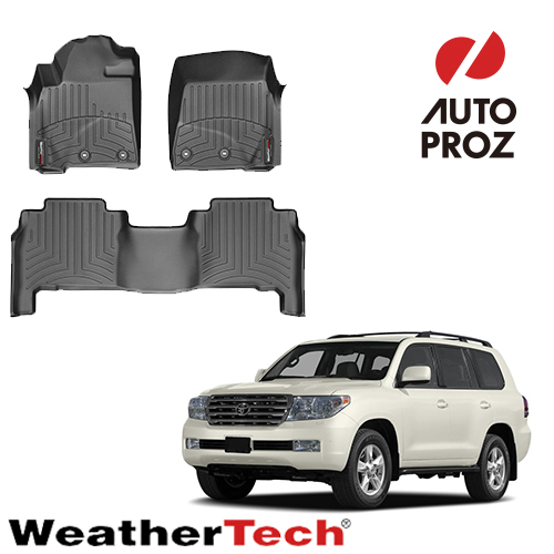 [WeatherTech 正規品] トヨタ ランドクルーザー ランクル200系 2007年式以降現行 右ハンドル用 フロアマット 2列セット ブラック