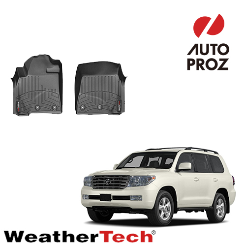 [WeatherTech 正規品] トヨタ ランドクルーザー ランクル200系 2007年式以降現行 1列目 右ハンドル用 フロアマット/フロアライナー ブラック