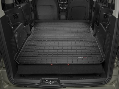【Weather Tech直輸入正規品】Ford フォードトランジットコネクトワゴン1列目以降2014-2015年ウェザーテック カーゴライナーカラー:ブラックカーゴトレイ・カーゴマット(ラゲッジ用ラバーマット/トランクマット)