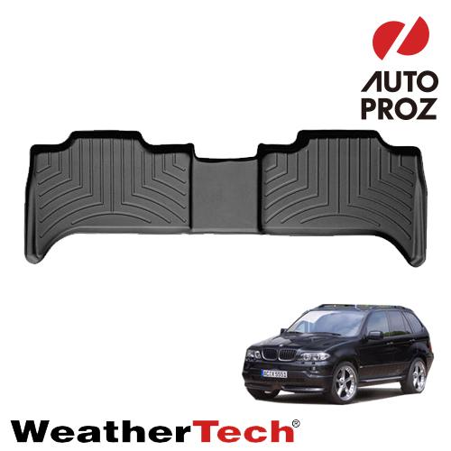 [WeatherTech 正規品] BMW X52000-2007年式 E53に適合2列目フロアライナー ブラック