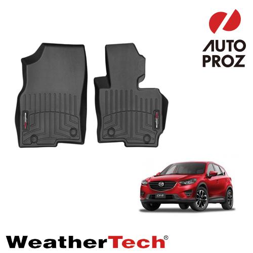[Weathertech 正規品] マツダ KE型 CX-5 2013-2016年式 フロアマット/フロアライナー 1列目 右ハンドル用 ブラック