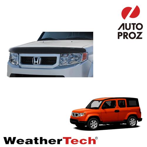 [WeatherTech 正規品] Honda ホンダElement エレメント2003-2008年ウェザーテック製 フードプロテクターフッドプロテクター(別名:バグガード)