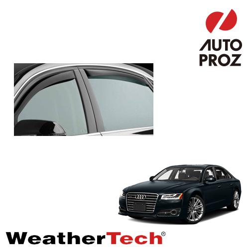 [スーパーセール10%OFF!] 【スーパーセール!10%OFF!!】[スーパーセール10%OFF!] [WeatherTech 正規品] Audi アウディ A8 2011年以降 ウィンドウディフレクター