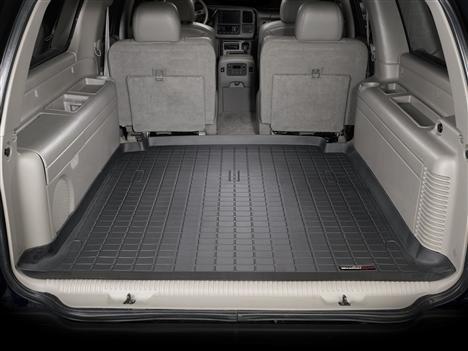 【Weather Tech直輸入正規品】Chevrolet Suburban(シボレー サバーバン) リア 4 1/2F 2000-2006年ウェザーテック カーゴライナーカラー:ブラックカーゴトレイ・カーゴマット(ラゲッジ用ラバーマット/トランクマット)