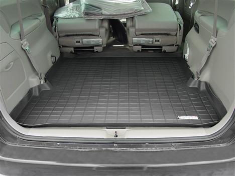 【Weather Tech直輸入正規品】Mazda(マツダ) MPV2列目以降 2005-2006年ウェザーテック カーゴライナーカラー:ブラックカーゴトレイ・カーゴマット(ラゲッジ用ラバーマット/トランクマット)