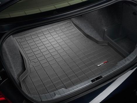 【Weather Tech直輸入正規品】BMW 330iセダン 2006-2012年ウェザーテック カーゴライナーカラー:ブラックカーゴトレイ・カーゴマット(ラゲッジ用ラバーマット/トランクマット)