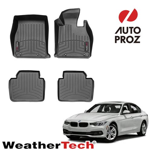 [WeatherTech 正規品] BMW 3シリーズ F30/F31 RWD 2012-2019年 右ハンドル用 フロアマット/フロアライナー 2列セット ブラック