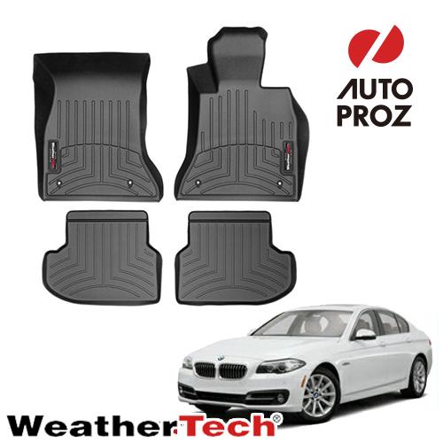 [WeatherTech 正規品] BMW 5シリーズ F10/F11 2014-2016年 右ハンドル用 フロアマット/フロアライナー 2列セット ブラック