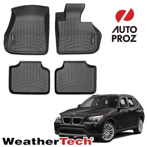 [WeatherTech 正規品] BMW X1 F48 AWD 2015年以降現行 右ハンドル用 フロアマット/フロアライナー 2列セット ブラック