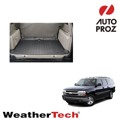 [WeatherTech 正規品] Chevrolet Suburban(シボレー サバーバン) 3列目以降 2000-2006年ウェザーテック カーゴライナーカラー:ブラックカーゴトレイ・カーゴマット(ラゲッジ用ラバーマット/トランクマット)