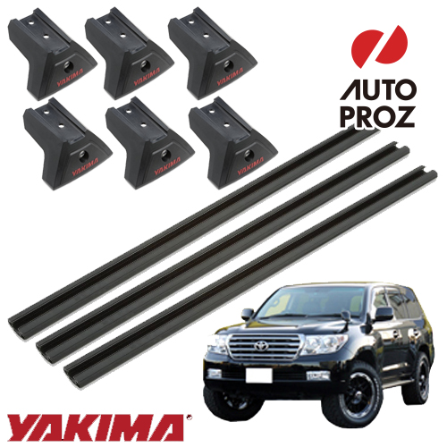 [YAKIMA 正規品] トヨタ ランドクルーザー 200系 2007年以降現行 フィックスポイント ベースセット ※3バー