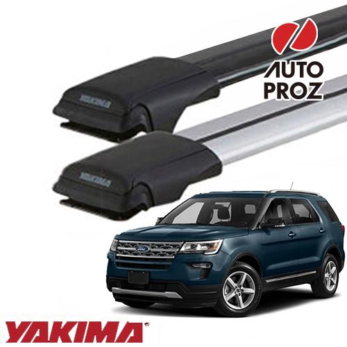 [YAKIMA 正規品] フォード エクスプローラー U502型2010-2019年式ルーフレール有り車両に適合 ベースラックセット (レールバーXXLサイズ)