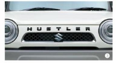 スズキ セール商品 純正 ハスラー フロントエンブレム 新型ハスラー非対応 ブルーイッシュブラックパール3 99000-99097-H03 HUSTLER 新作からSALEアイテム等お得な商品満載
