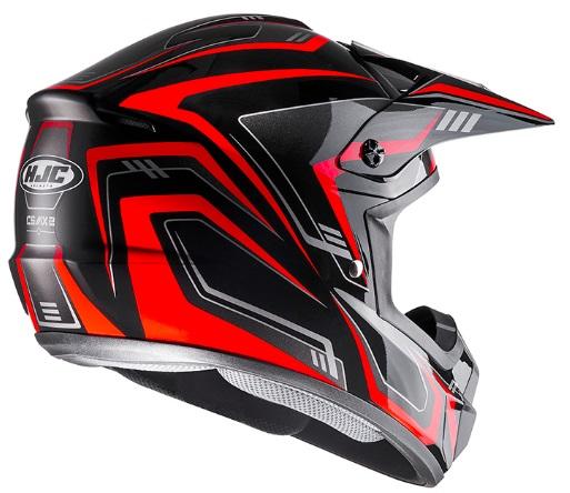 XLサイズ HJH123 HJC CS MX2 ブラック/レッド EDGE ヘルメット