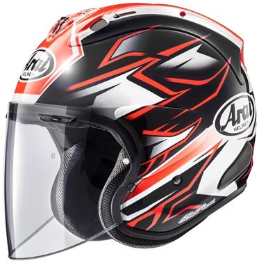 アライ (ARAI) ジェットタイプヘルメット VZ-RAM ゴースト レッド 59-60cm