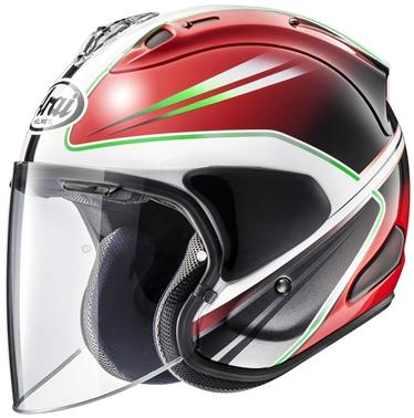 アライ (ARAI) ジェットヘルメット VZ-RAM (VZ-ラム) ウエッヂ (WEDGE) 赤 59-60cm