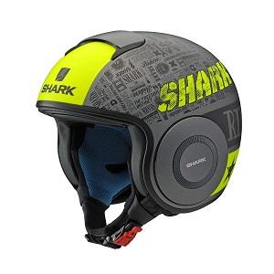 SHARK DRAK Graphic YAMAHA ジェットヘルメット SILVER&YELLOW XL