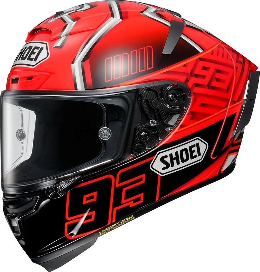 ショウエイ(SHOEI) バイクヘルメット フルフェイス X-Fourteen MARQUEZ4 (マルケス4) TC-1 RED/BLACK