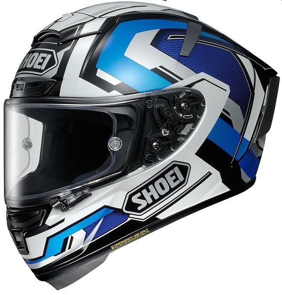 ショウエイ(SHOEI) バイクヘルメット フルフェイス X-Fourteen BRINK(ブリンク) TC-2 (BLUE/WHITE)