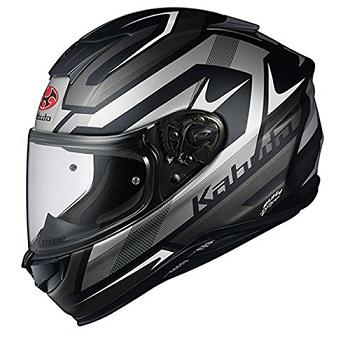 オージーケーカブト(OGK KABUTO) バイクヘルメット フルフェイス AEROBLADE5 RUSH(ラッシュ) フラットブラックシルバー M