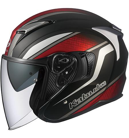 オージーケーカブト(OGK KABUTO) バイクヘルメット ジェット EXCEED DEUCE(デュース) フラットブラック Lサイズ