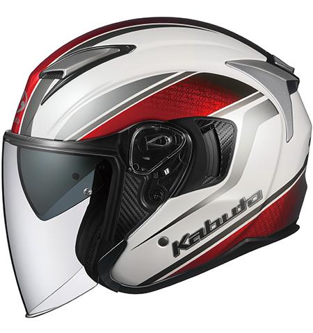 オージーケーカブト(OGK KABUTO) バイクヘルメット ジェット EXCEED DEUCE(デュース) パールホワイト Mサイズ