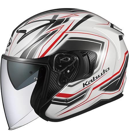 オージーケーカブト(OGK KABUTO) バイクヘルメット ジェット EXCEED CLAW(クロー) パールホワイト Lサイズ