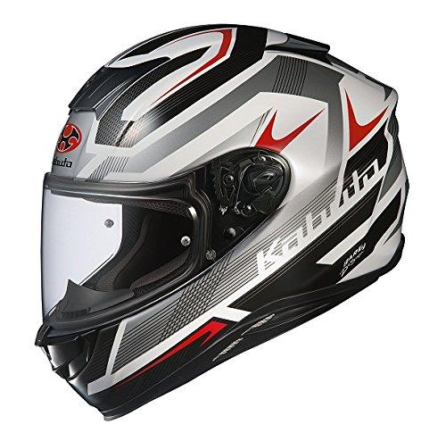オージーケーカブト(OGK KABUTO) バイクヘルメット フルフェイス AEROBLADE5 RUSH(ラッシュ) ホワイトシルバー M