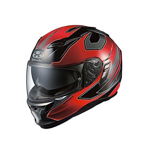 オージーケーカブト(OGK KABUTO) バイクヘルメット フルフェイス KAMUI2 STINGER (スティンガー) ブラックレッド M