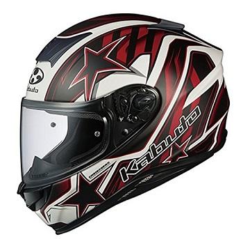 オージーケーカブト(OGK KABUTO) バイクヘルメット フルフェイス AEROBLADE5 VISION(ヴィジョン) フラットブラックレッド XL