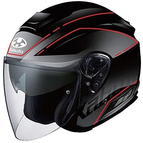 オージーケーカブト(OGK KABUTO) バイクヘルメット ジェット ASAGI BEAM(ビーム) フラットブラック L