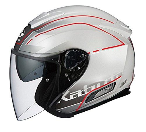 オージーケーカブト(OGK KABUTO) バイクヘルメット ジェット ASAGI BEAM(ビーム) パールホワイト M
