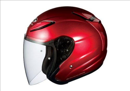 OGK KABUTO AVAND2 シャイニーレッド Lサイズ バイクヘルメット ジェット オージーケーカブト