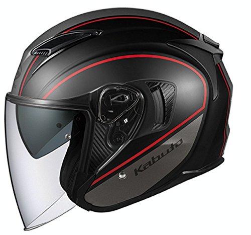 オージーケーカブト(OGK KABUTO) バイクヘルメット ジェット EXCEED DELIE(デリエ) フラットブラックグレー XL